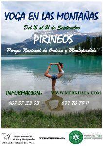 Yoga en las montañas, pirineos